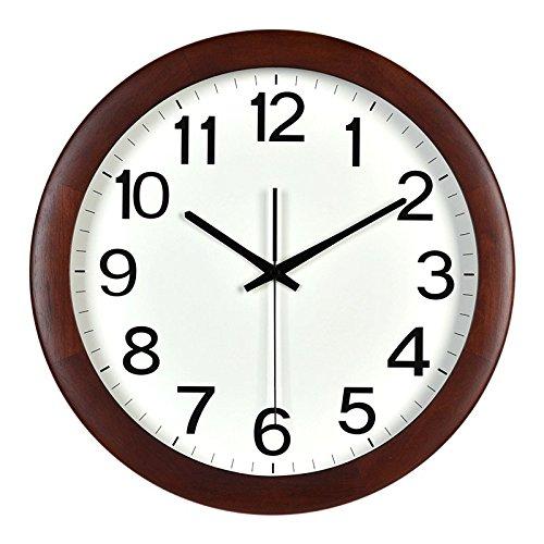 Vinteen Nordeuropa Wanduhr Modern Einfache Kreativität Mode Massivholzrahmen Quarz Taschenuhr Wohnzimmer Stille Uhr Hohe Transmission Runde Glas Taschenuhr Kinderzimmer Uhr