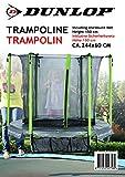 Dunlop Trampolin, Schwarz/Grun, 244 x 60 cm
