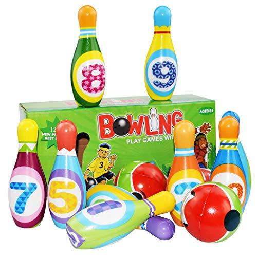 Mitlfuny Kawaii Langsam Dekompression Creme Duftenden Groß Squishy Spielzeug Squeeze Spielzeug,Bowlingspiel-Set Schaumstoff-Ball-Spielzeug-Geschenke pädagogische frühe 10 Stifte und 2 Kugel Innen