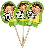 20 Muffinfähnchen * FUSSBALLER FRITZ FLANKE * von Lutz Mauder // 11159 // Kinder Geburtstag Party Kindergeburtstag Kinderparty Muffins Deko Motto Einweg Fussball Fussballjungs