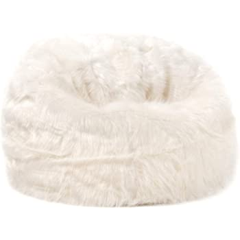 d164d35e98 icon Faux Fur Bean Bag Chair - Champagne Beige - Extra Large