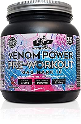Venom Power PRE WORKOUT Gas Mark 10 - 30 Servings by MD Nutrition
