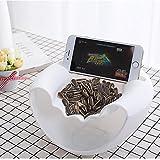 Mamum Creative Form Fruit Teller/EAT Sonnenblumenkerne Artefakt Double Layer Creative Form Banana perfekt für Muttern und Dry Fruits Aufbewahrungsbox, weiß, Einheitsgröße