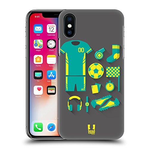 Head Case Designs Ciclismo Kit Del Principiante Cover Retro Rigida per Apple iPhone X Football
