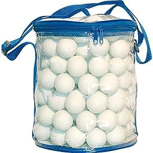 Sunflex 144 weiße Trainings-Tischtennisbälle inkl. Aufbewahrungsverpackung