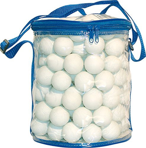 sunflex sport PVC Tischtennis-Ball-Tasche gefüllt mit 144 Tischtennis-Bällen