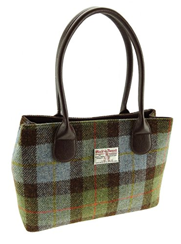 Damen Harris Tweed grün kariert Classic Handtasche lb1003col28