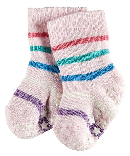 FALKE Babys Stoppersocken Multi Stripe Catspads, 85% Baumwolle, 1 Paar, Rosa (Rose 8907), Größe: 74-80