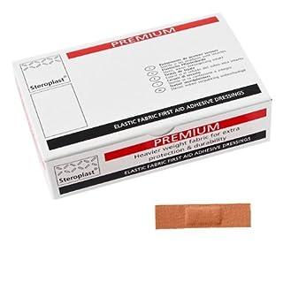 Steroplast Premium Fabric Plasters, 6 x 2 cm, Pack of 100