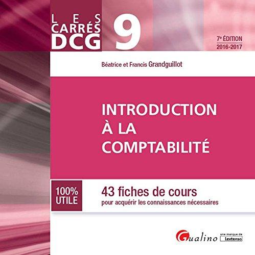 Introduction à la comptabilité : 43 fiches de cours