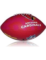 Wilson Football NFL Junior Arizona Cardinals Logo - Balón de fútbol americano ( infantil, caucho ) , color multicolor, talla 5