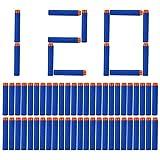 Middletone 120er Refill Bullets für N-Strike Elite, Nachfüllpack Spielzeug für draußen, Darts Pfeile für Nerf Zubehör (Blau)