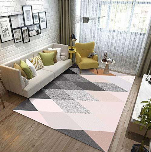 Schwarz Rosa Mit Teppich Wohnzimmer Schlafzimmer Rutschfester Teppich Moderner Minimalist Volletagenbettdecke Schwimmende Fensterauflage Abstrakte Geometrie -