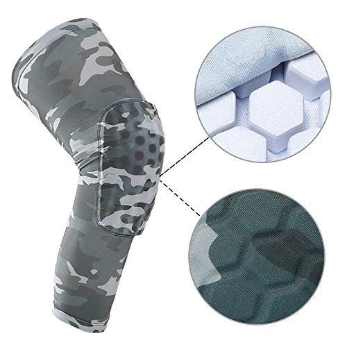 1Stück Outdoor Basketball Sport Anti Kollision Skid Bein Knie Pads Camouflage Hive Schutz Ausrüstung preisvergleich