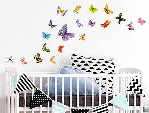 Kinder Schlafzimmer Möbel-set (I-love-Wandtattoo WAS-10054 Kinderzimmer Wandsticker Set A4