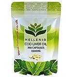 Best Foie de morue Huiles - Hellenia 360capsules à l'huile de foie de morue Review