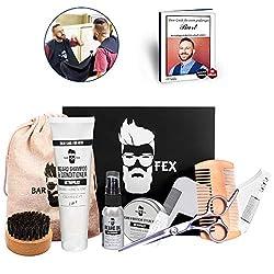Bartpflegeset Männer 10 teilig von BarFex - Hochwertige Pflege Made in Germany - Herren Rasur und Geschenk Set