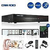 OWSOO Netzwerk DVR Digital Video Recorder 8CH Kanal voll 960H/D1 h. 264 HDMI P2P Cloud  + 1 TB Festplatte unterstützt Audio Record Telefon Control Motion Detection E-Mail Alarm PTZ