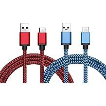 "BeneStellar Cable USB 3.1 Tipo C a USB-A 3.0 para Google Pixel / Pixel xl, Apple Nuevo Macbook 12"", Google Chromebook Pixel, Nokia N1 Tablet, Google Nexus 6P/5X, OnePlus 2, Huawei P9/P9 Plus, Xiaomi mi5, 3 ft (rojo+azul)"