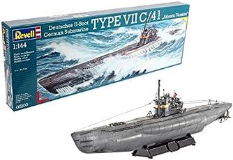 Revell 05100 - U-Boot Tipo 7 C/41 Atlantic Version Kit di Modello in Plastica, Scala 1:144
