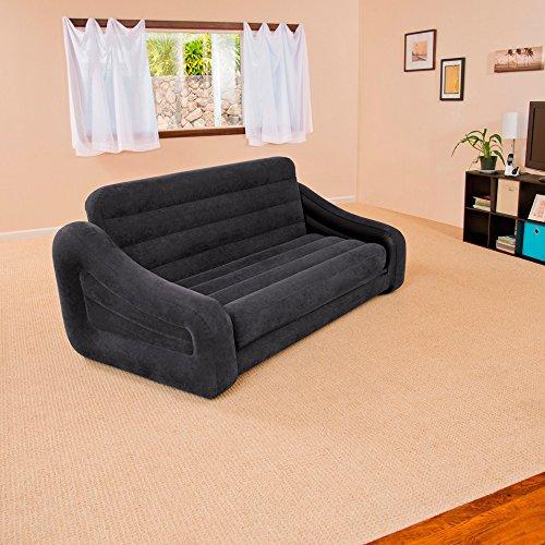 Intex Aufblasmöbel Ausziehbares Sofa Pull-Out Sofa, grün, 193 x 231 x 71 cm - 5