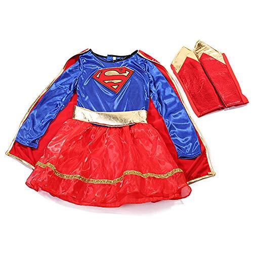 Kostüm Little Girl Up Dress - SHANGN Superheld Kinder Film Cosplay Kostüm/Halloween-Thema Party Captain America Little Girl Dress Up,Child-XL