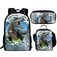HUGS IDEA Funny Wild Animal Pattern Lunch Bags for Kids