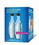 SodaStream DuoPack Glaskaraffe für Crystal und Penguin Wassersprudler (spülmaschinenfest mit fest schließendem Deckel), 2 x 0,6L für SodaStream DuoPack Glaskaraffe für Crystal und Penguin Wassersprudler (spülmaschinenfest mit fest schließendem Deckel), 2 x 0,6L