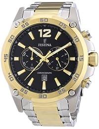 Festina Herren-Armbanduhr XL Sport Chronograph Quarz Edelstahl beschichtet F16681/4