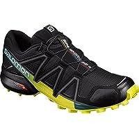 Salomon Men's Speedcross 4 Trail Running Shoes, Black (Black/Everglade/Sulphur Spring), 9 UK