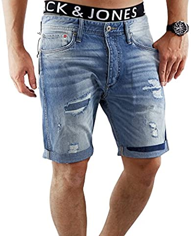 JACK & JONES Herren Short jjiERIK 509 kurze Hose Jeans Blue Denim Anti Fit (L, Blau (Blue Denim