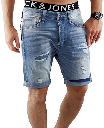 JACK & JONES Herren Short jjiERIK 509 kurze Hose Jeans Blue Denim Anti Fit (L, Blau (Blue Denim Fit:ANTI))