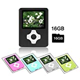 Crillutar 16GB MP3-Player MP4-Player Musik-Player Mit