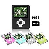 Crillutar 16GB MP3-Player MP4-Player Musik-Player Mit Micro-SD-Kartensteckplatz,...