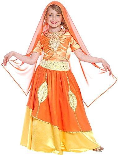 Bollywood Prinzessin Kinderkostüm für Mädchen 128 (5-7 (Kind Kostüme Bollywood)