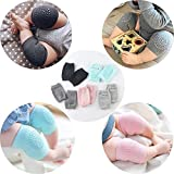 Goodrich 2 Pair Baby Knee pad Kids Safety Crawling Elbow Cushion Infant Toddlers Baby Leg Warmer Knee Support Protector Baby Kneecap (Multi Color)