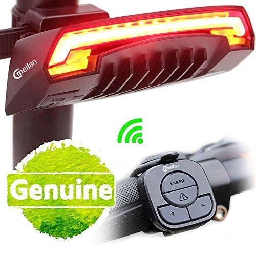 Wildlead Meilan X5 Wireless Luce per bici da bicicletta Telecomando Lampada di coda USB intelligente Ricaricabile Caratteristiche: Design leggero aerodinamico; Visuale a distanza;