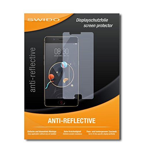 SWIDO Schutzfolie für Nubia M2 [2 Stück] Anti-Reflex MATT Entspiegelnd, Hoher Härtegrad, Schutz vor Kratzer/Displayschutz, Displayschutzfolie, Panzerglas-Folie