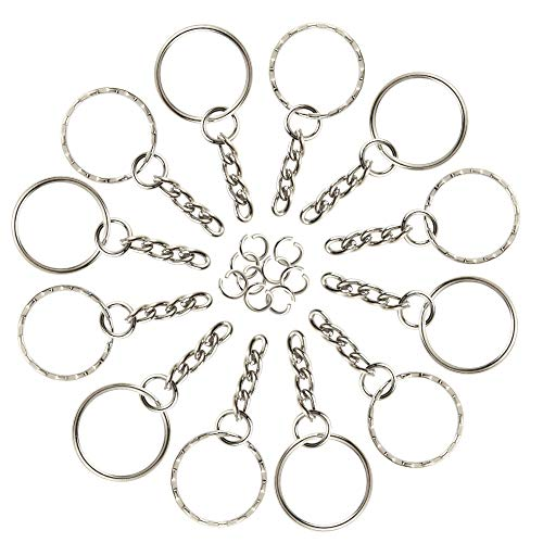 FEPITO 60 Pieces Keyring Blanks ...
