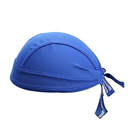 Collun Gorra de Ciclismo Transpirable con Calaveras para Ciclismo, Correr, Bicicleta, Motocicleta, Calavera, Debajo del Casco, Diadema para Hombres y Mujeres, Azul