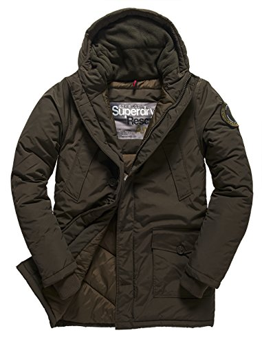 SUPERDRY Everest Parka, Giacca Uomo, Army01E, L