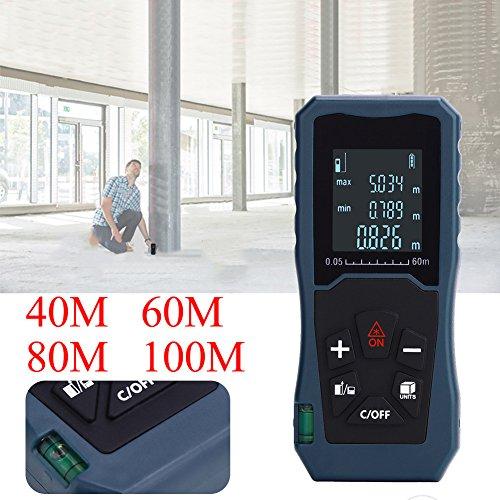 Klassischer Entfernungsmesser Handheld Distanzmessgerät IP54, Messbreich 0.2~60m/±2mm