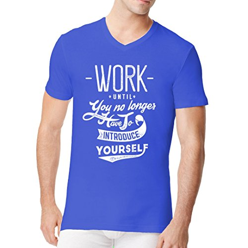 Fun Sprüche Männer V-Neck Shirt - Work - Introduce yourself by Im-Shirt Royal