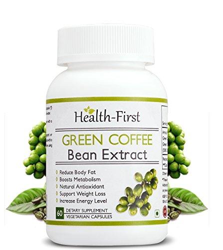 Gesundheit zuerst Pure Green coffee bean Max Extrahieren, Fatburner, 1600 mg täglich, 60 Kapseln 50% Chlorogensäure - klinisch bewährte Sicher Fett verbrennen schnell steigern Energie & Feuer, Metabol
