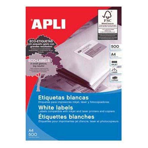 Etiquetas Adhesivas Para Inkjet Laser Y Fotocopiadoras Blanca Cantos Rectos 500 Hojas 485 X 254mm