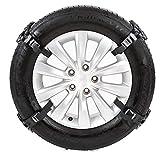 LOOMBNB Cadena de Nieve, Cadena 4PCS Antideslizante del Coche del neumático de Nieve Camión Invierno Cadena Engrosamiento de Emergencia para la mayoría de Coches SUV Camión,Negro