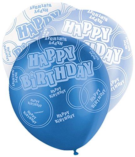 Unique Party Lot de 6 ballons d'anniversaire en latex 30,5 cm