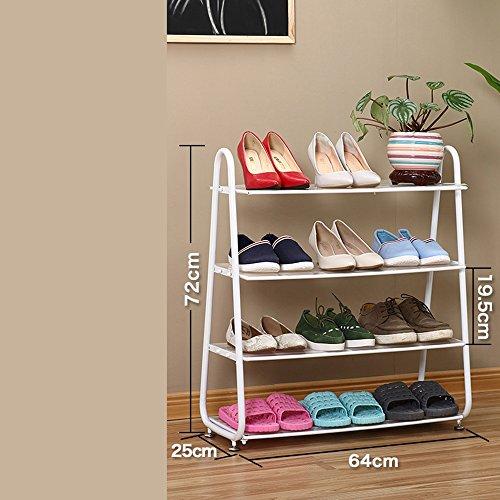 DELLT- Porte-chaussures en métal de la famille Fer à repasser (Couleur : Blanc)