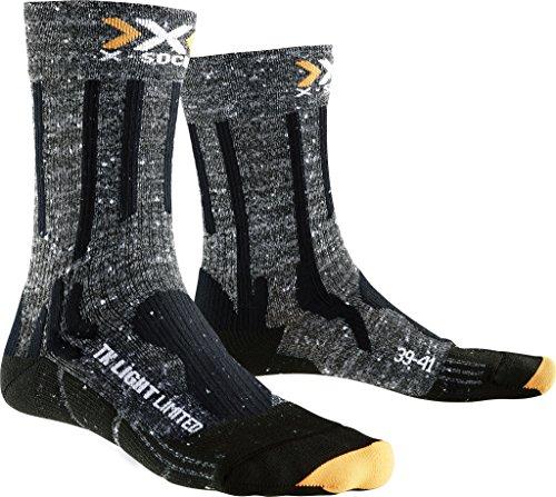 X-Socks Messieurs Trekking Light Limited Chaussette, Homme, X100085, Gris/Noir, 45/47