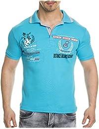 Tazzio - Polo tendance homme Polo 308 bleu turquoise - Bleu